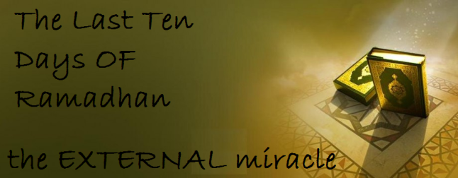 the external miracle